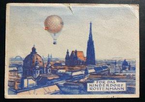 1955 Bruck Balloon Flight Airmail Postcard First Day Cover FDC To Vienna Austria