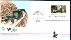 Beautiful Pugh Designed and Painted WWII Burma Road FDC -only 196 created...
