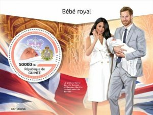 Z08 IMPERF GU190229b GUINEA (Guinee) 2019 Royal baby MNH ** Postfrisch