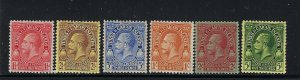 TURKS AND CAICOS SCOTT #62/64/65/67-69 1928 GEORGE V PARTIAL SET- MINT LH