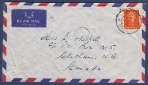 Netherlands Antilles - Scott #219 - on 1956 cover to Canada
