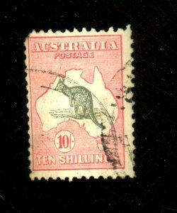Australia #127 Used FVF Pulled Corner Perf Cat$225