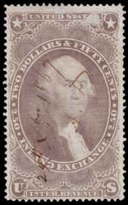 United States Scott R84c (1862) Used F, CV $22.50 D