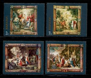 MALTA 1977 MNH SC.522/525 Tapestries