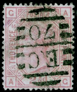 SG141, 2½d rosy mauve PLATE 16, USED. Cat £80. AG