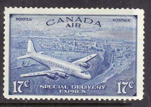 Canada-Sc#CE4- id9-Unused 17c bright ultramarine-Air Mail Special Delivery-og