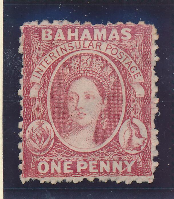 Bahamas Stamp Scott #11, Unused, No Gum, 1863-75 1p QV - Free U.S. Shipping, ...