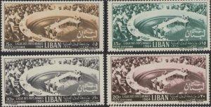 Lebanon C404-C407 (mh) Arab League (1964)