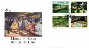 Ciskei - 1992 Hotels FDC SG 218-221