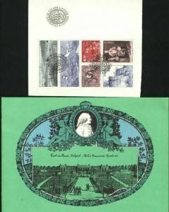 Sweden. FD Book. With 6 Block Stamps,. Carl Von Linne 1978. Engraver: Cz Slania