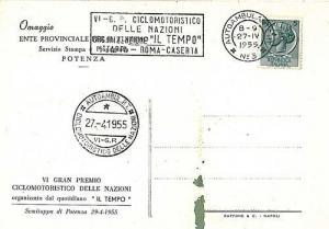 MOTOCYCLING - POSTAL HISTORY - CARD: ITALY 1955