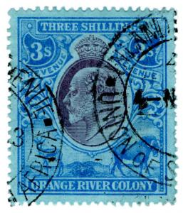 (I.B) Orange River Colony Revenue : Duty Stamp 3/-