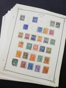 EDW1949SELL : ECUADOR Very clean Mint & Used collection on album pages Cat $1724