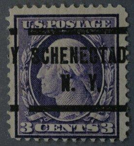 United States #376 3 Cent Washington Schenectady  N.Y. Precancel Used