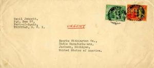 Trinidad 1/2d and 4d KGV and Britannia 1935 G.P.O. Port of Spain, Trinidad to...