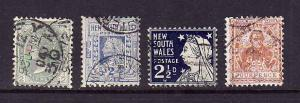 Australian States-NSW-Sc#102-4b-used group-1899-