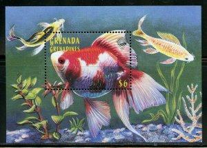 GRENADA GRENADINES FISH II SHEET & SOUVENIR SHEET MINT NH