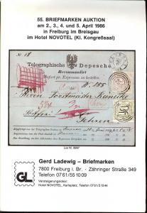 55. Briefmarken-Auktion, Gerd Ladewig  April 2-5, 1986