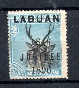 Labuan 1896 2c Jubilee mint MH SG84d WS20012