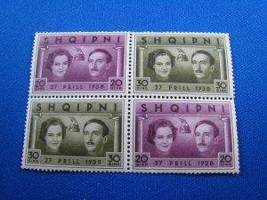 ALBANIA 1938 - SCOTT #  289  MNH
