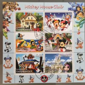Tadjikistan 2003 M/S Walt Disney Cartoon Animation Mickey Mouse Stamps CTO (1)