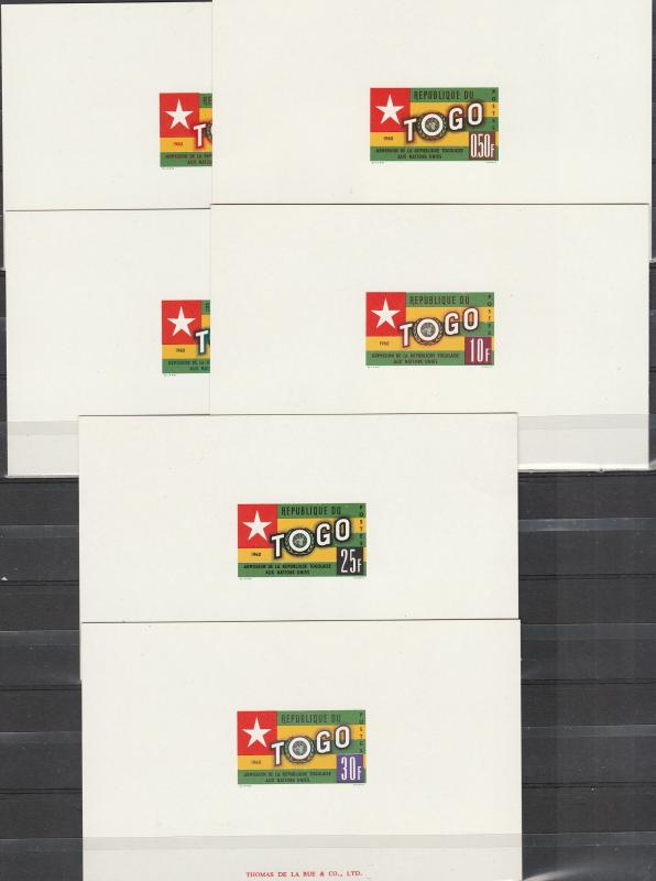 Togo #386-91 Proofs On Card Stock (A1869L)