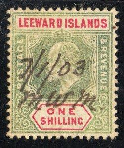 Leeward Islands Sc #26 Used Manuscript Cancel
