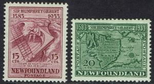 NEWFOUNDLAND 1933 350TH ANNIVERSARY 15C AND 20C