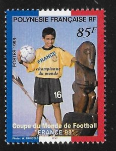 French Polynesia 1998 France Soccer Champions Overprinted Sc 742 MNH A854