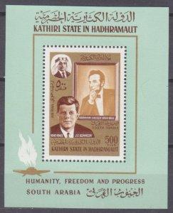 1967 Aden Kathiri State of Seiyun 164/B14 John F. Kennedy 12,00 €