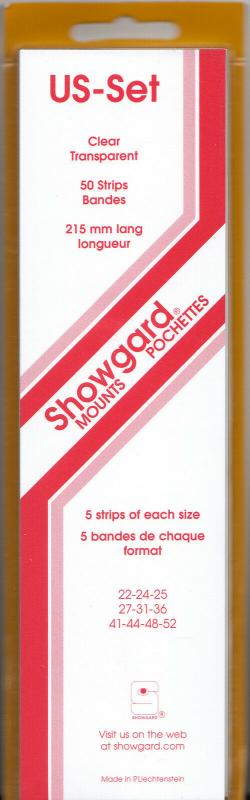 SHOWGARD CLEAR MOUNTS US1 (5 EACH OF 10 SIZES 50) RETAIL PRICE $24.50