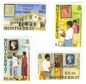 Montserrat #741-44 MNH SPECIMEN penny black