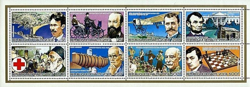 Stamps M/S Mint Famous Person & Events Upper Volta / Collectif Hommes Célèbres