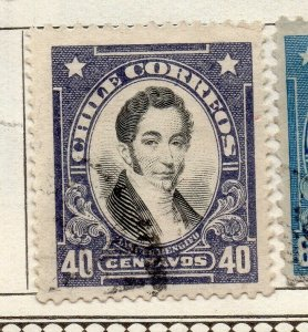 Chile 1911 Early Issue Fine Used 40c. NW-11452