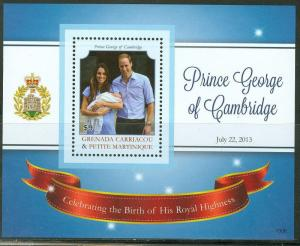 GRENADA GRENADINES  2013 BIRTH OF PRINCE GEORGE KATE & WILLIAM  S/S