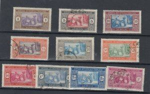 Senegal 1926/33 Market Set To 3 Fr VFU JK4605