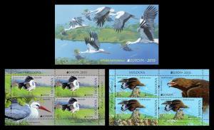 Moldova 2019 fauna  birds Europa серт booklet MNH