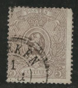 Belgium Scott 26 Used Coat of Arms 1866 CV$90