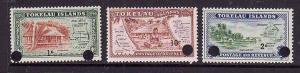 Tokelau-Sc#9-11-Unused NH set-new values surcharged-1967-