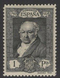 SPAIN SG566 1930 1p BLACK MTD MINT
