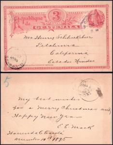 Goldpath: Guatemala postal card 1895, to U.S.A.  _CV23_P12