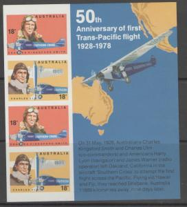 AUSTRALIA SGMS662 1978 AUSTRALIAN AVIATORS MNH