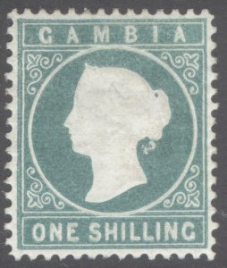 Gambia 1880 1s Green embossed WMK CC SIDEWAYS SG 19A Sc 10v MM/MH Cat£475($617)