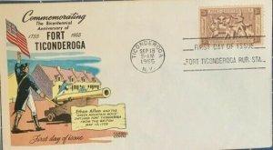 FLUEGEL 1071 Fort Ticonderoga New York Ethan Allen Green Mt Boys