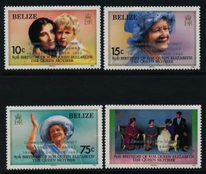 Belize 771-4 MNH Queen Mother 85th Birthday, Summit o/p