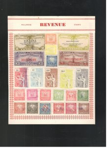 PHILIPPINES REVENUE STAMP COLLECTION