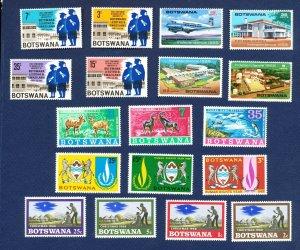 BOTSWANA - # 1 // 50 - VFMNH - five sets from 1966-1968