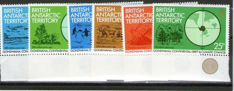 British Antarctic Territory 86-91  MNH