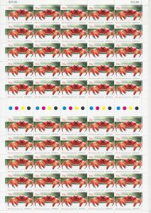 Christmas Island: 2014 70c Red Crab Migration full sheet of 50 MNH**