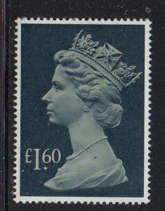 Great Britain Sc MH174 1987 £1.60  Machin Head stamp mint NH